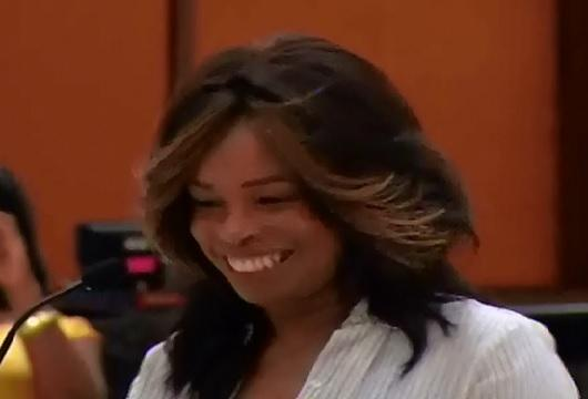 FOX sports reporter, former anchor Pam Oliver addresses FAMU's Board of Trustees.