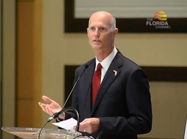 Governor Rick Scott speaking to the Enterprise Florida board.