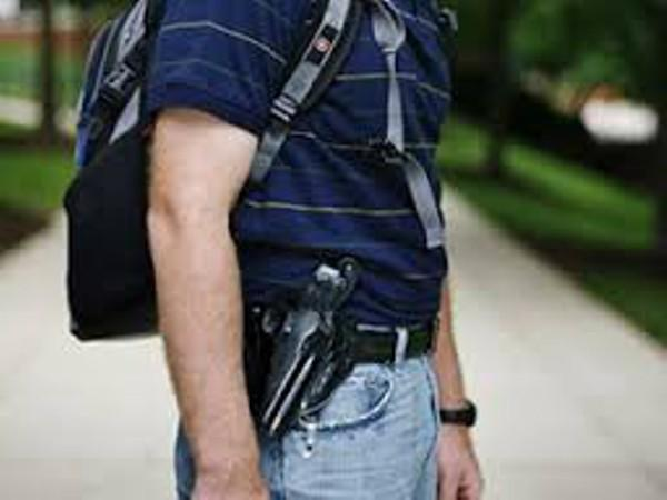 "persuasive argument on concealed carry on campus Second, armed guards need to be on campus all during school hours in addition to hired police or volunteer personnel, teachers need to be allowed to carry a concealed weapon, after more specialized training in other words, in each school several qualified ""good guys/gals"" with guns need to be prepared to stop an attack in its tracks."
