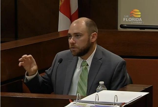 Senate mapmaker Jay Ferrin on the stand.