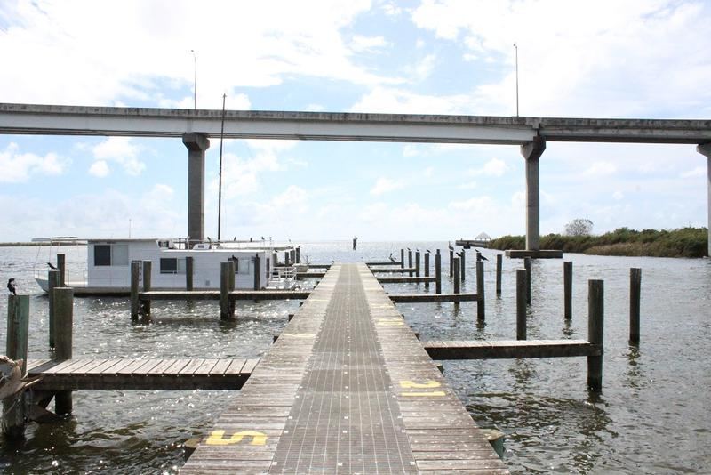 The view of Apalachicola Bay from the boat launch