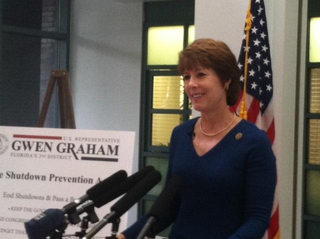 Congresswoman Gwen Graham says she'll file a bill to prevent government shutdowns.