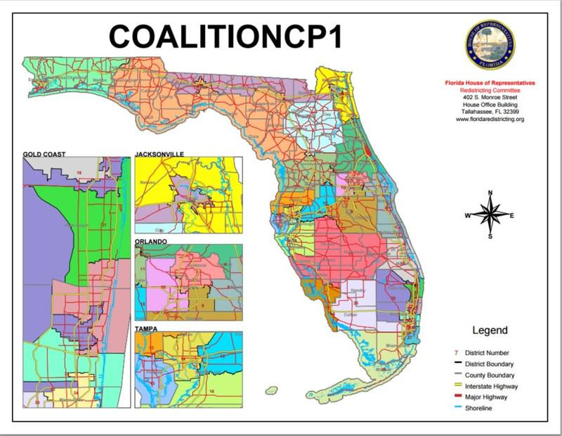 The coalition map approved by the Florida Supreme Court Wednesday.
