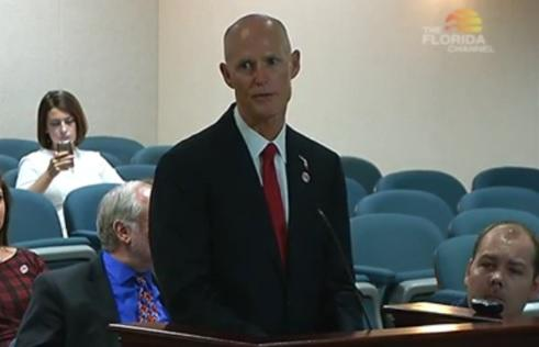 Gov. Scott pitching his budget before House lawmakers.