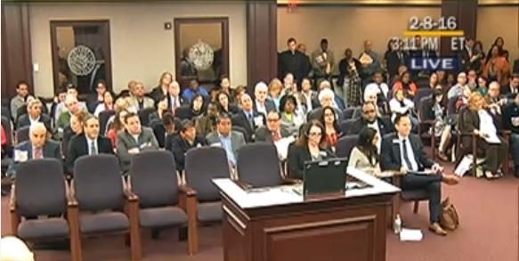 Crowded committee chambers for LGBT non-discrimination measure.