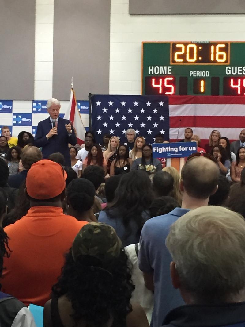 Bill Clinton speaking at FAMU