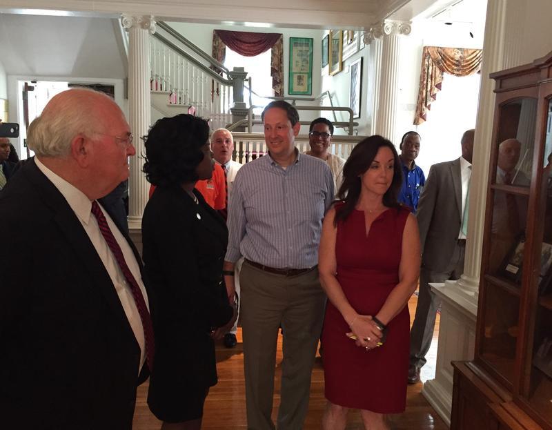From Left, Sen. Bill Montford (D-Tallahassee), FAMU President Elmira Mangum, Sen. Joe Negron (R-Stuart), Sen. Lizbeth Benaquisto (R-Ft. Meyers).