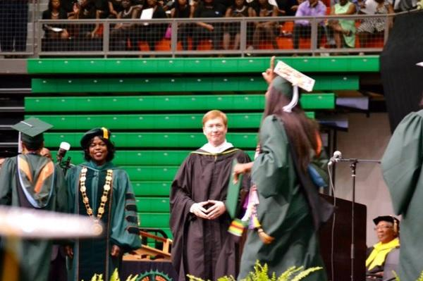 Agriculture Commissioner Adam Putnam and Florida A and M university during the graduation ceremony on April 30, 2016
