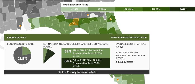 Food Insecurity in North Florida