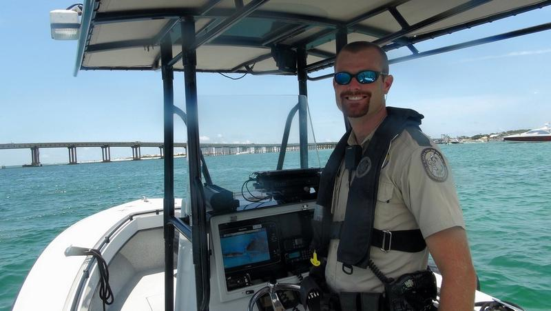 The Florida Fish and Wildlife Conservation Commission recognized Officer Jarrod Molnar of Okaloosa County as its 2016 Boating Officer of the Year during a recent meeting.