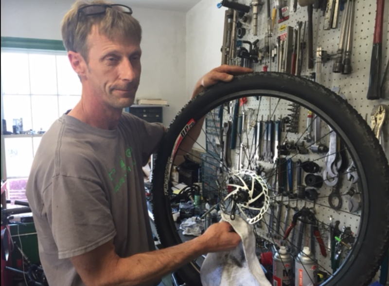Joe's bike shop mechanic Peter Burchell talks impacts of Tropical Storm Fay