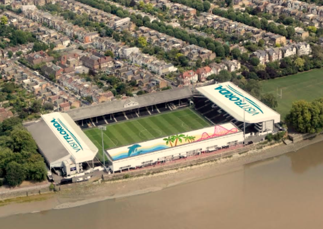 Craven Cottage, the stadium Fulham Football Club calls home.
