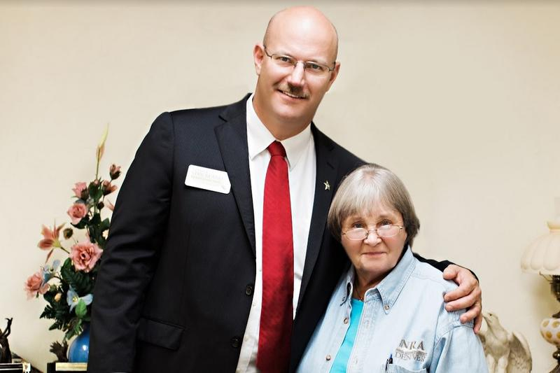 The National Rifle Association's Marion Hammer (right) has endorsed Leon County Sheriff candidate Charlie Strickland.