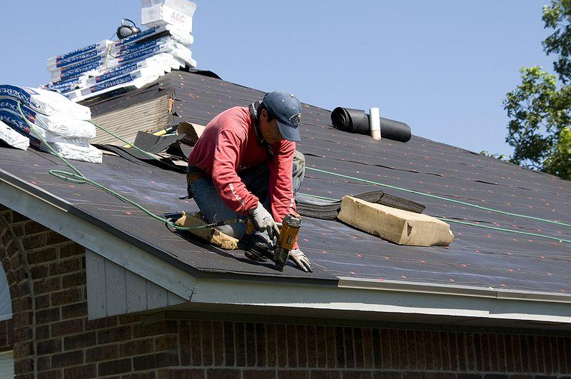 A roofer working in Oklahoma.