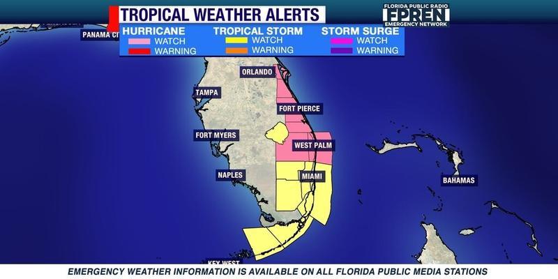 Hurricane Matthew as of 12:45 pm 10/04/16.