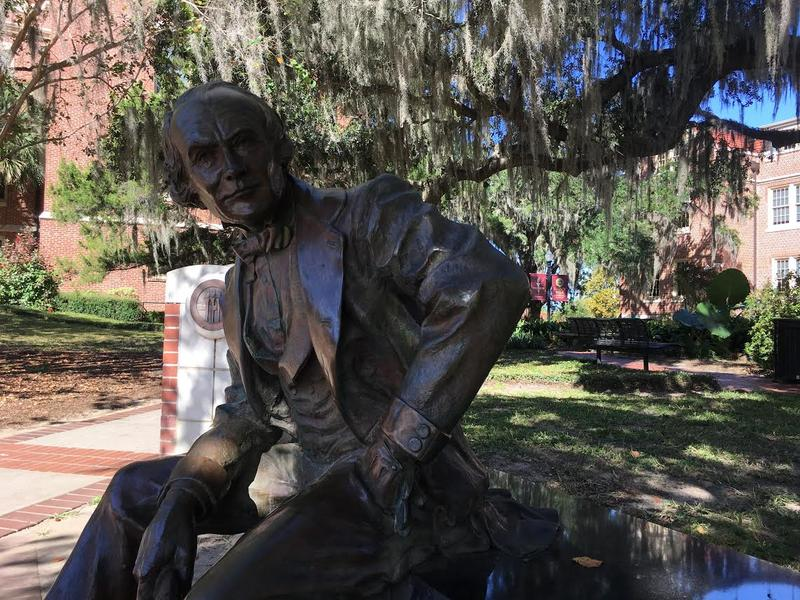 Eppes statue on Florida State University's campus.