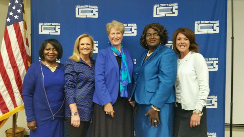 From left to right: Maggie Lewis Butler, Dee Dee Rasmussen, Roseanne Wood, Joy Bowen and Alva Swafford Striplin