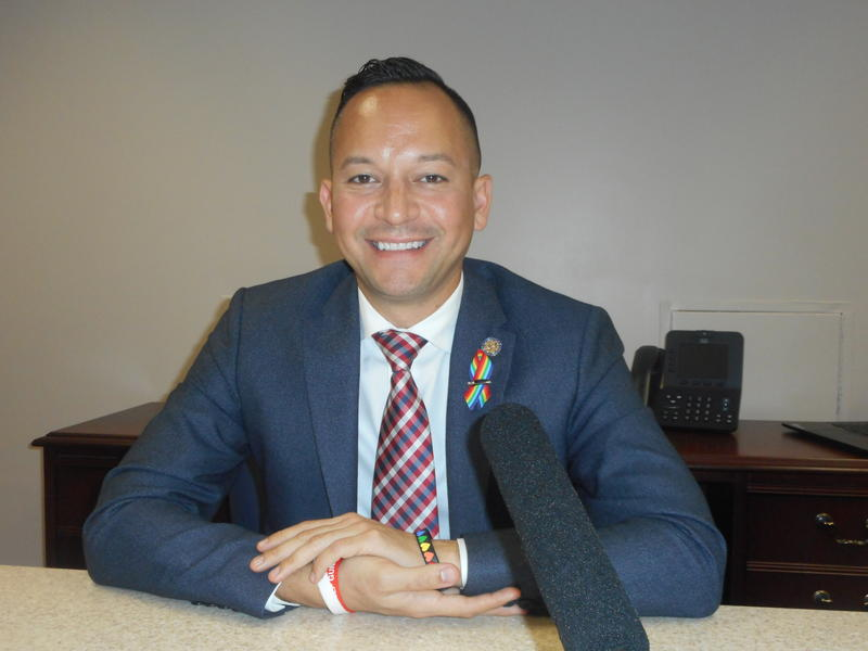 Rep. Carlos Guillermo Smith (D-Orlando), new to the Florida House, is the state's first openly gay Latino lawmaker.