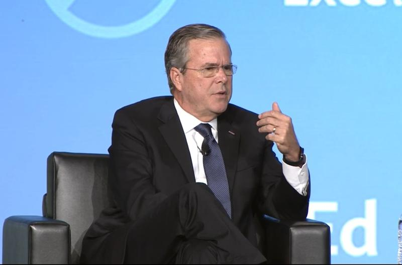 Former Gov. Jeb Bush speaking at the Foundation for Excellence in Education summit.