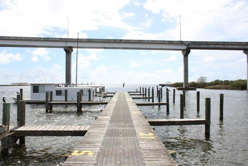 A view from the docks in the Apalachicola Bay.
