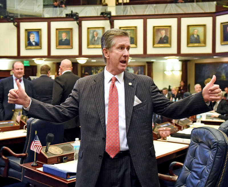 Rep. Jim Boyd (R-Bradenton) on the House floor.