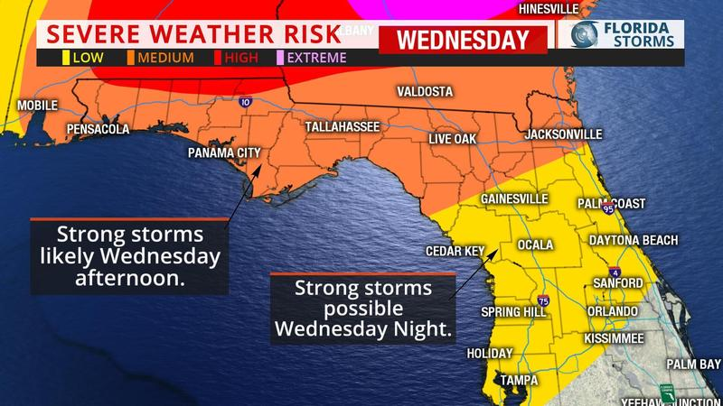 Tallahassee is expected to see hail, thunderstorms as strong weather system crosses North Florida tonight.