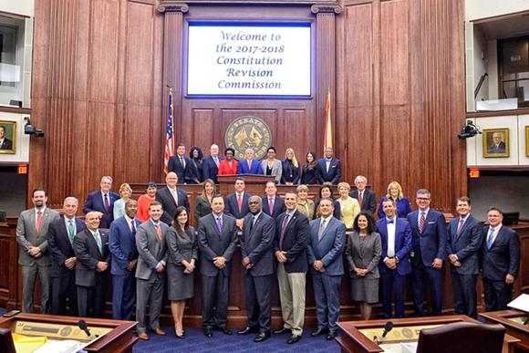 The 2018 Florida Constitution Revision Commission. Group photo.