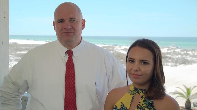 Walton County Sheriff Mike Adkinson (left) is joined by Madeline Brindley, who's father drowned at Grayton Beach in 2003. Both are part of the sheriff's office mini-documentary on the dangers of rip currents.