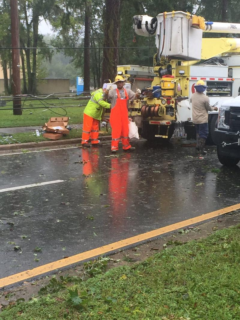City Of Tallahassee Utility Big Bend Power Restoration Begins Wfsu