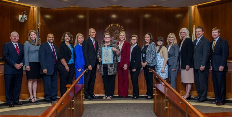 The Florida Cabinet along with several Florida agency officials and advocates commemorated Disability Employment Awareness Month.