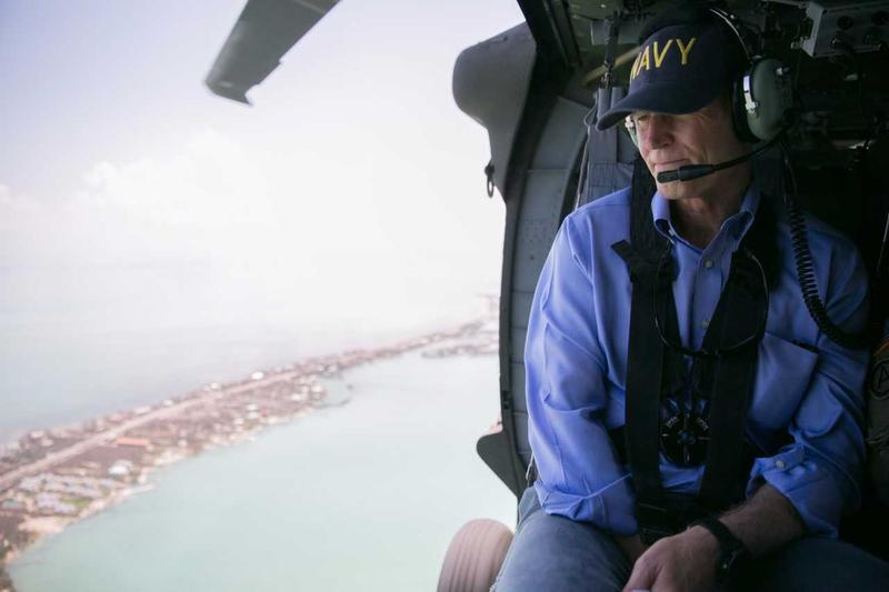 Governor Scott surveying damage in the Keys.