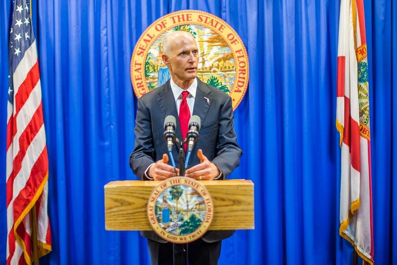 Emerging from his final legislative session, Republican Gov. Rick Scott holds a small lead over incumbent Democrat Bill Nelson in a potential U.S. Senate race that could help determine control of the Senate, according to a poll released Monday.  The poll