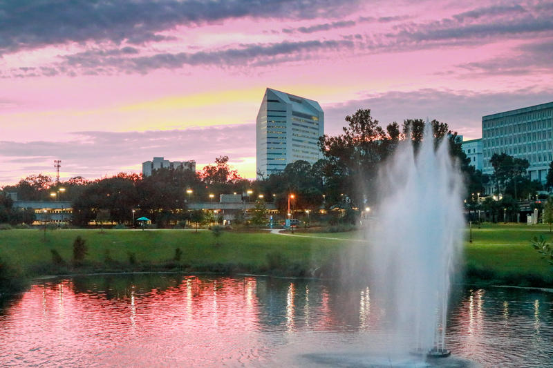 Picture of the sunset at Cascades Park