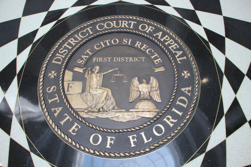 Pictured is the seal of Florida's First District Court of Appeals