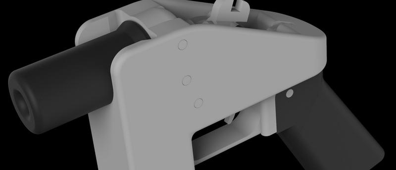 "The ""Liberator,"" an example of the 3D-printable gun."