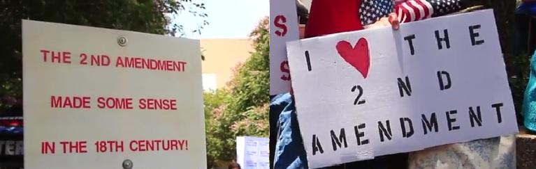 "The ""Big Pro Gun Rally"" and the March for Our Lives rally both took place in downtown Tallahassee this weekend. These are some of the signs."