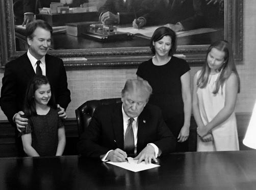 President Trump chose Judge Brett Kavanaugh (far left) as his U.S. Supreme Court nominee to replace Justice Anthony Kennedy. But, that decision is causing some mixed feelings.