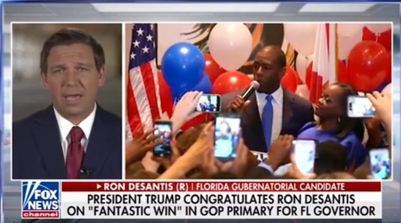 Congressman Ron DeSantis is under fire for what some say was a racist description of Tallahassee Mayor Andrew Gillum's policies. Gillum and DeSantis are running for Florida governor. (8/29/18)