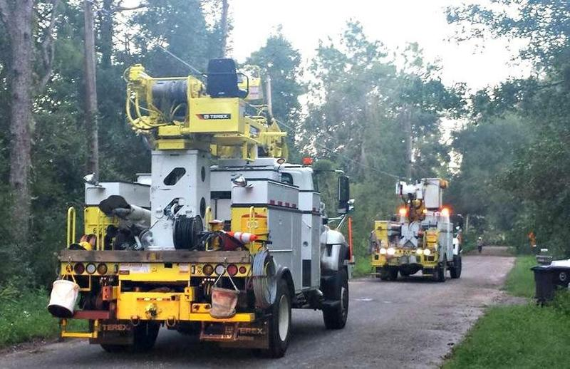 City of Tallahassee Utility Trucks