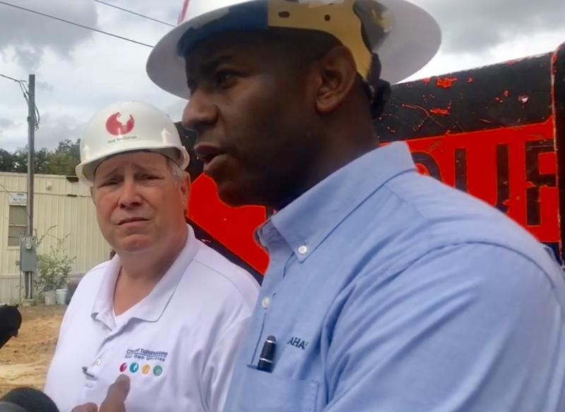 Mayor Andrew Gillum and Utility Director Rob McGarrah