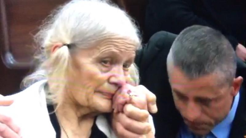Cheryl Williams, mother of Mike Williams, gets emotional as a jury returns guilty verdicts her former daughter-in-law, Denise Williams, in his 2000 death, and disappearance.