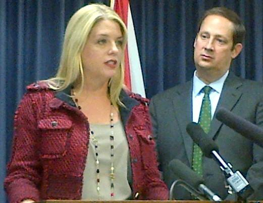 Attorney General Pam Bondi with Florida Sen. Joe Negron talk about prescription drug abuse and its impact on newborn babies