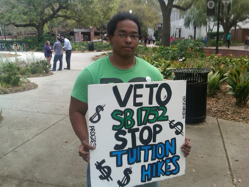 FSU student Michael Sampson says he's opposed to any tuition increase