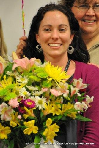 Riversink Elementary teacher Megan Crombie is a finalist for the 2012 Teacher of the Year award