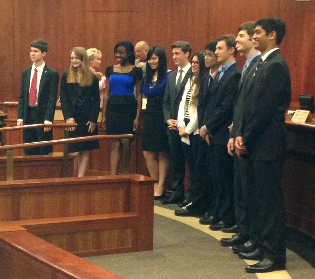 Members Of The Florida Youth Commission And Tallahassee Student Matthew  Morse (far Left) In The Florida Cabinet Meeting Room