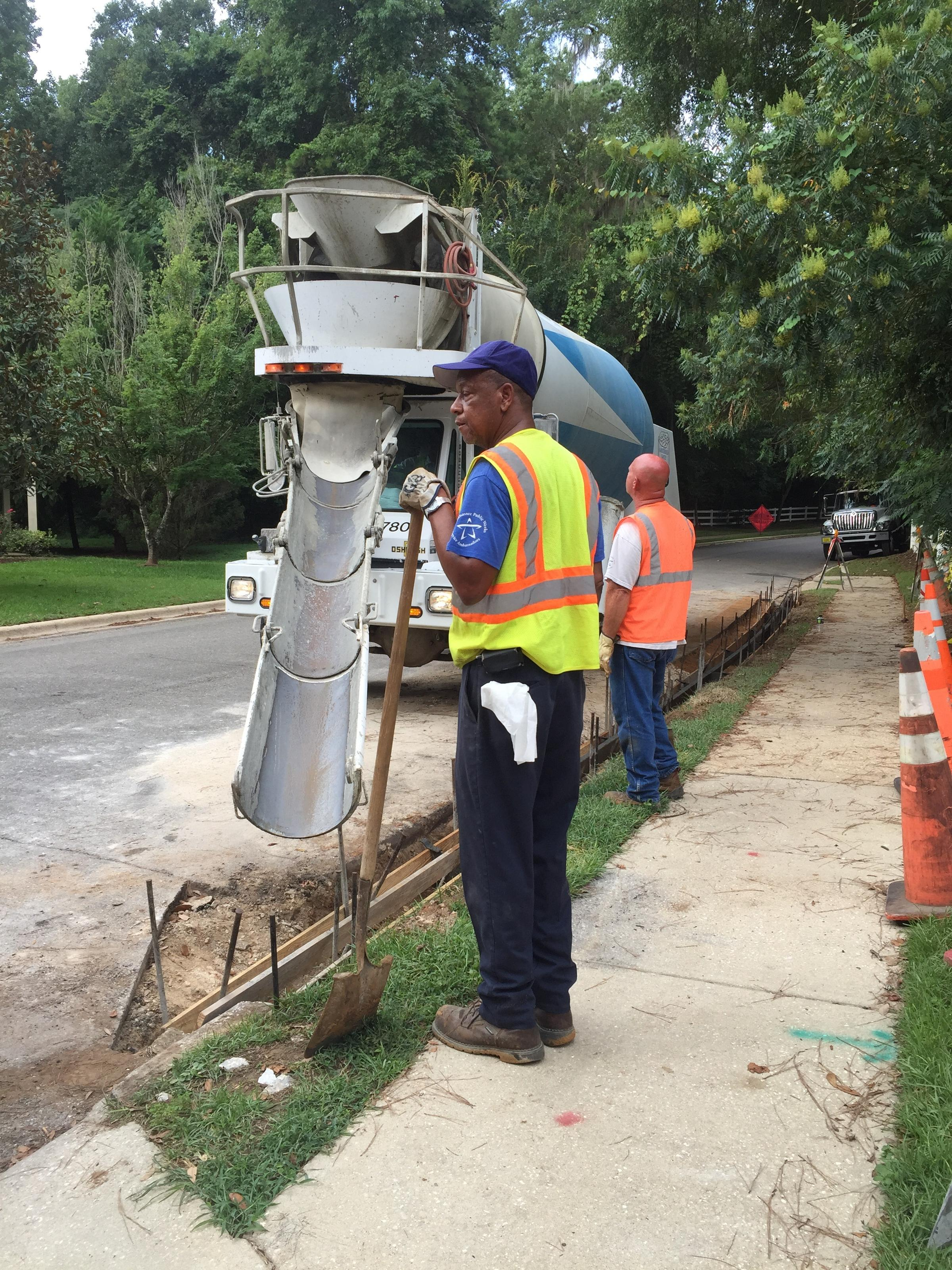City Of Tallahassee Utility Cement Hasnt Dried On Tallahassee Sidewalk Fights Wfsu