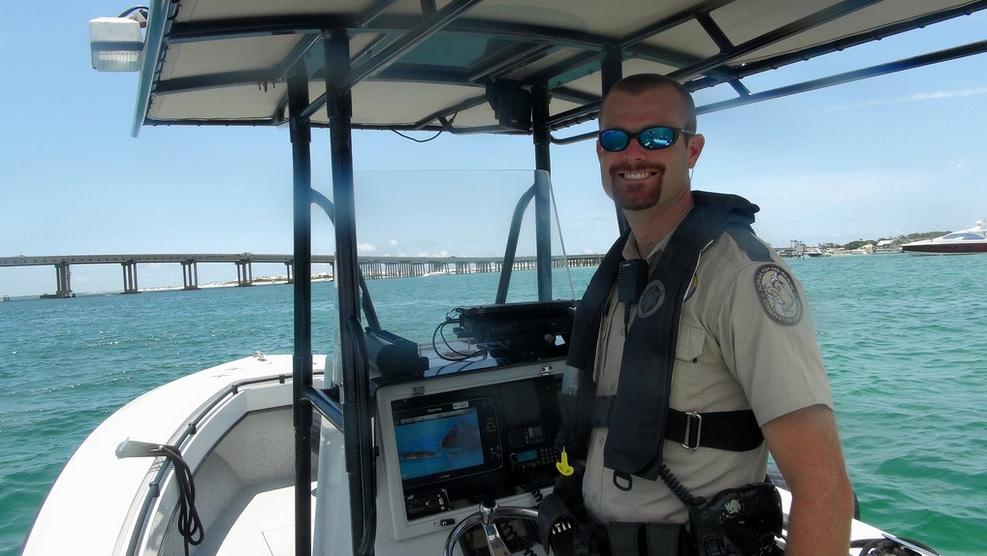 Okaloosa man is florida s boating officer of the year for Florida fish and wildlife officer