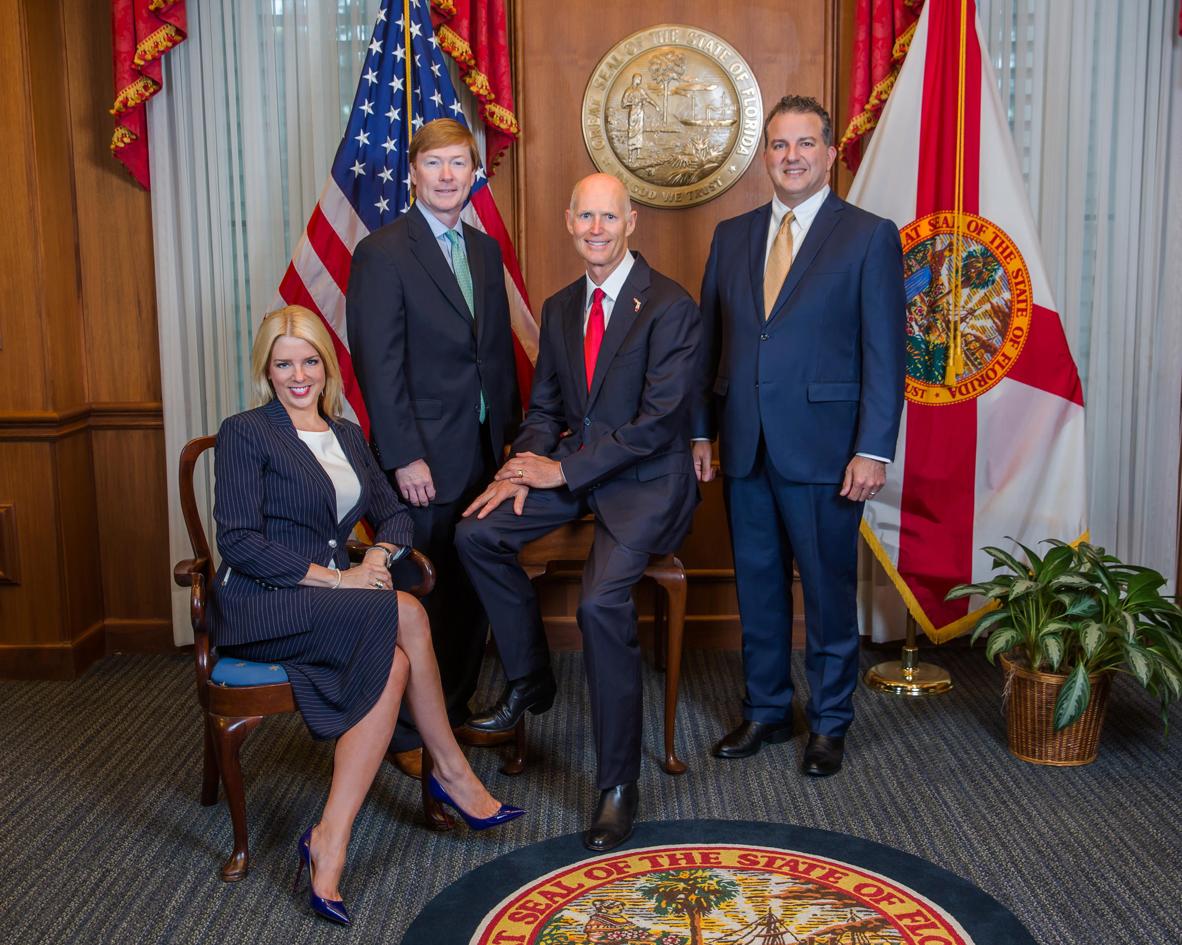 Lovely Attorney General Pam Bondi (left) And Governor Rick Scott (third From Left)  Spoke About An Alachua County Emergency Declaration After The Florida  Cabinet ...