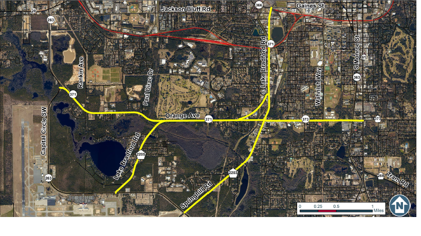 Local officials want public input on southside road projects wfsu the crtpa is considering improvements to the highlighted southside roads malvernweather Gallery