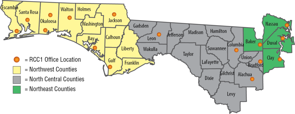 Map Of North Florida Counties.North Florida Appropriations Project Bills For The 2019 Legislative